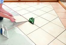 Укладка плитки по диагонали на пол: как класть и положить, видео ромбом, напольная разметка, фото раскладки
