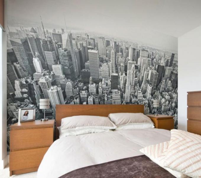 Обои города на стену: фото в интерьере, зимний Париж, Лондон с рисунком ночным, черно белые, Венеция, вид, изображение Нью-Йорка, видео