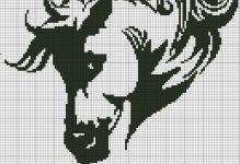 Вышивка крестом лошади: схемы и наборы, бесплатные, пони бегущие по воде, Риолис для девушек
