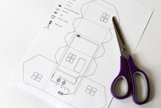Макет дома из бумаги своими руками со схемами и фото