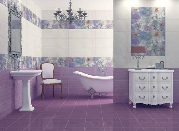 Плитка с узором для ванной комнаты: идеи плитки в ванной с рисунком (20 фото)