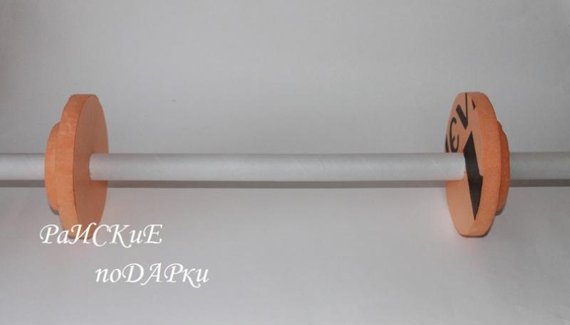 Штанга из конфет своими руками пошагово: мастер-класс с видео