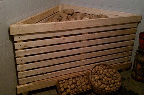 Как хранить картошку на балконе зимой