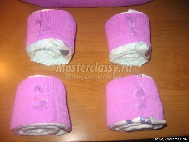 Коляска из памперсов своими руками: мастер-класс с фото