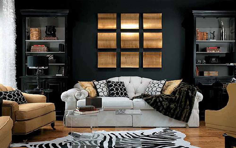 Оформление стены над диваном в гостиной: принципы и