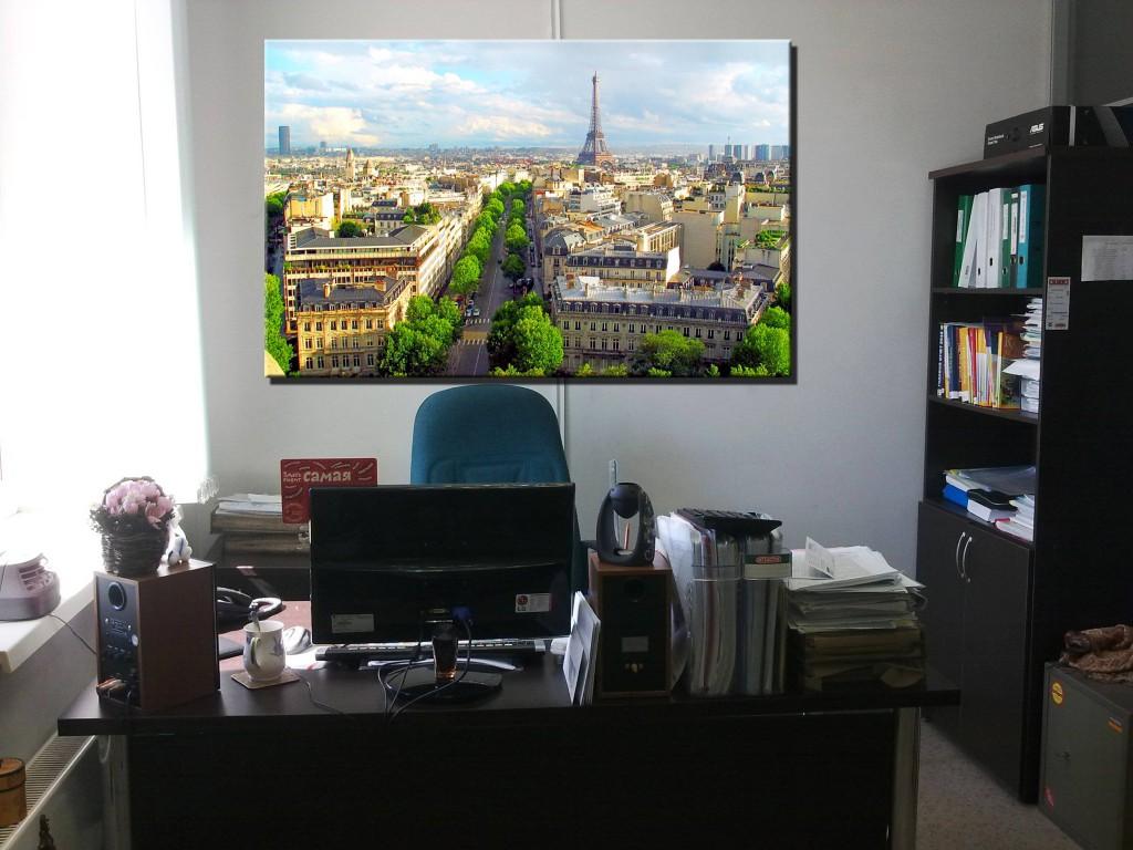 Украшение интерьера офиса картиной