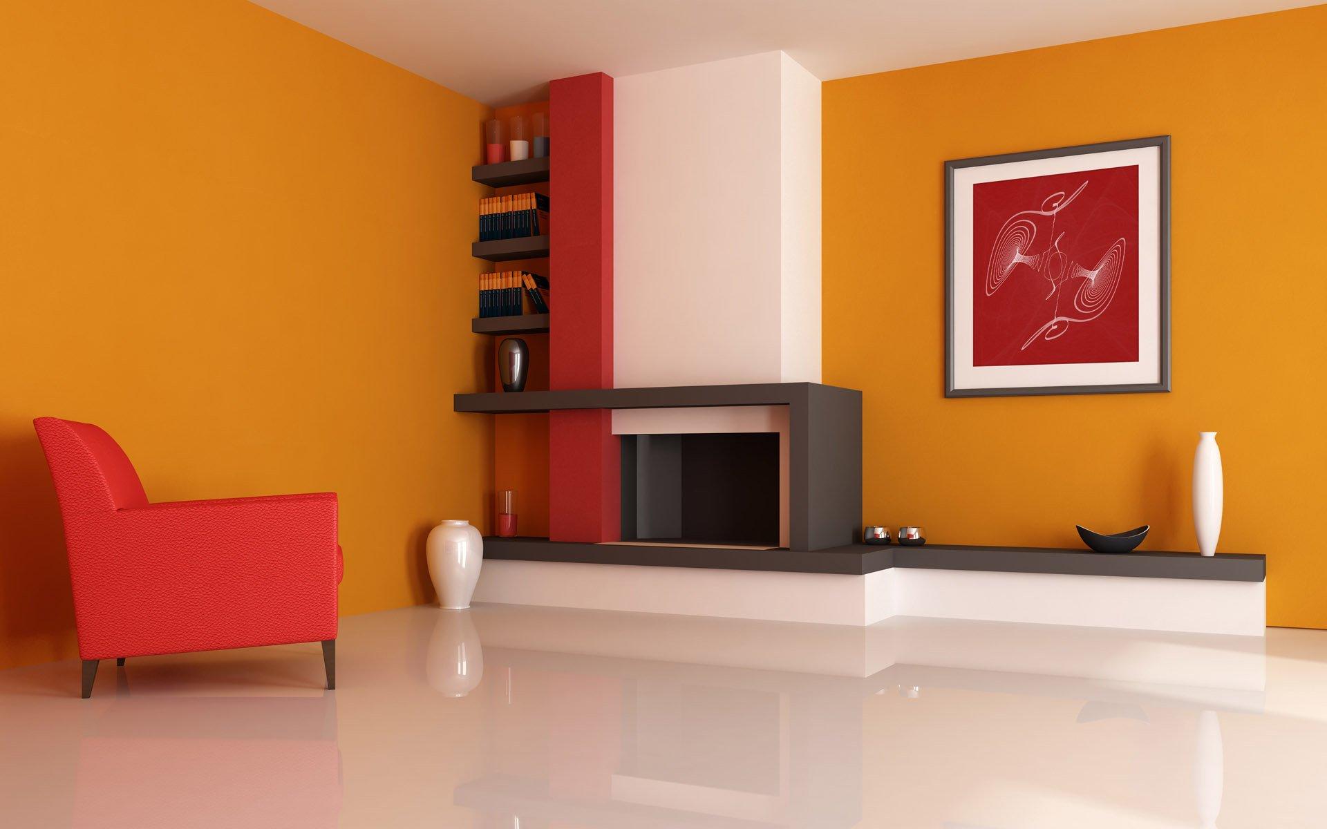 Персиковый цвет стены