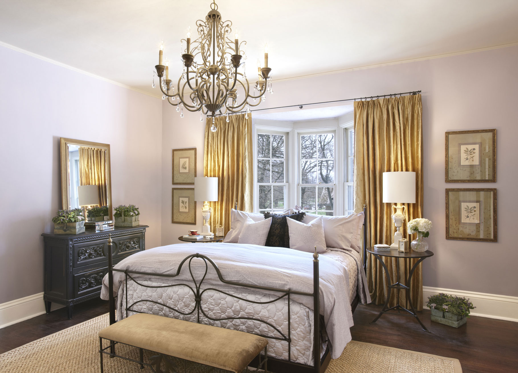 Красивые люстры для спальни фото