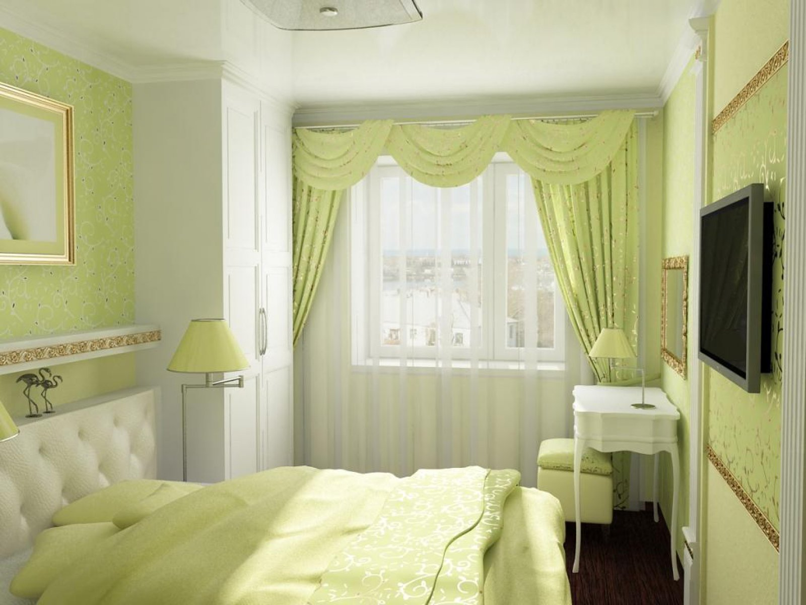 Комната 12 кв.м дизайн спальня