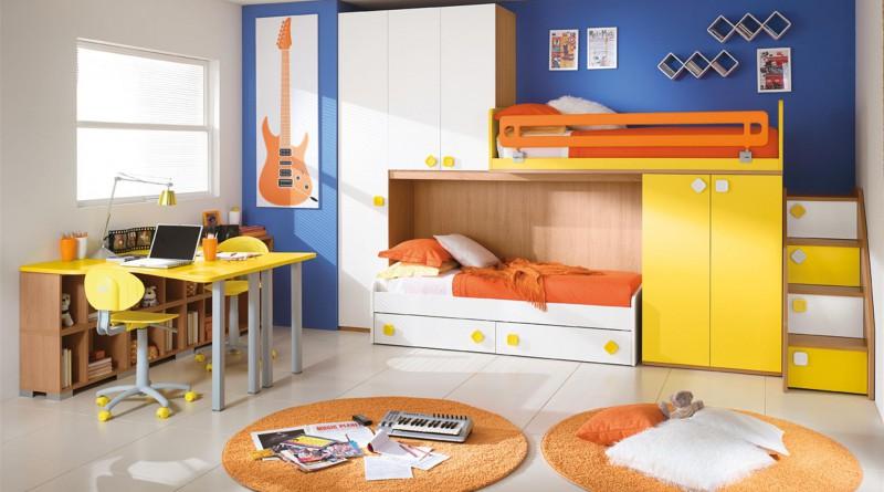 Дизайн интерьера детской для двух разнополых детей