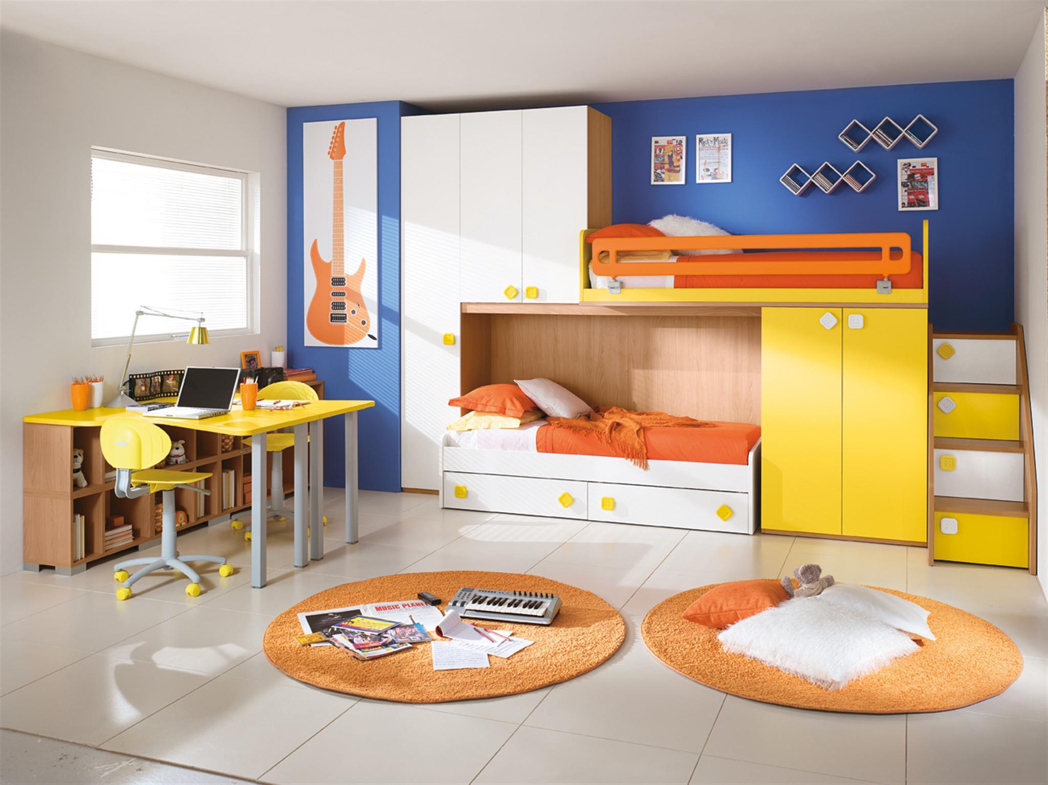 дизайн детской комнаты для двух разнополых детей стилизация и