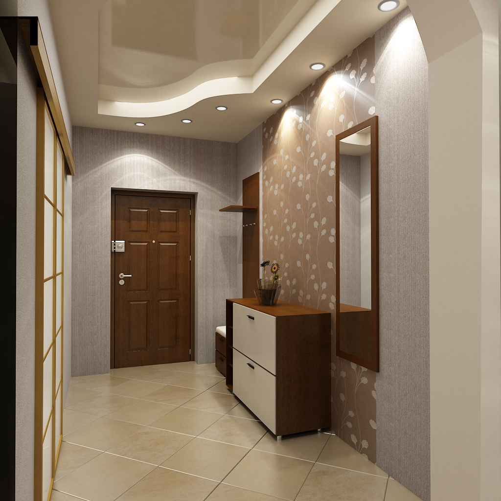 Дизайн потолка коридор