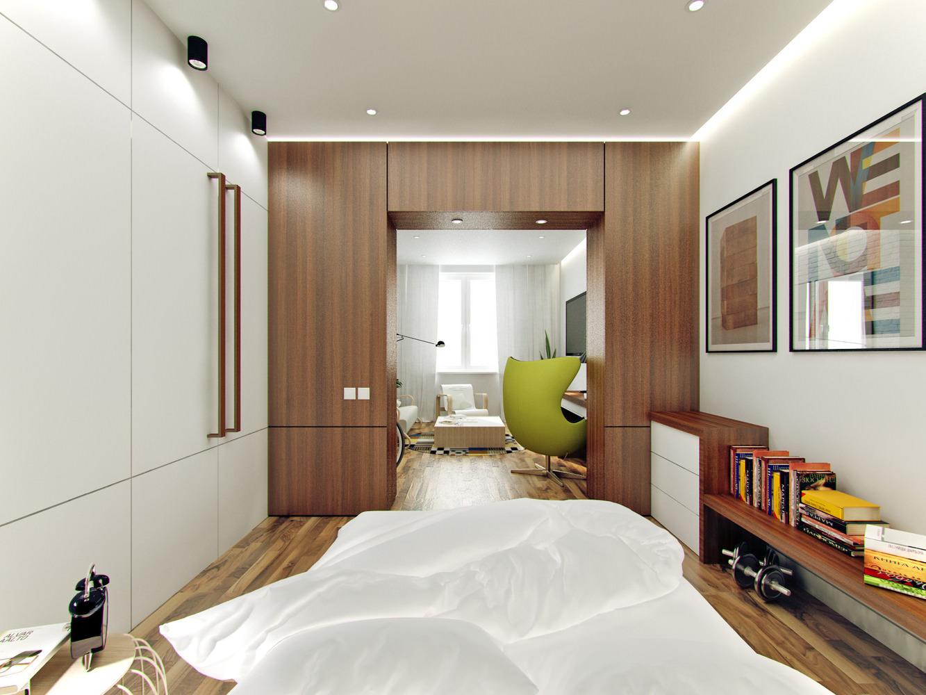 Дизайн интерьера спальни 19 квм
