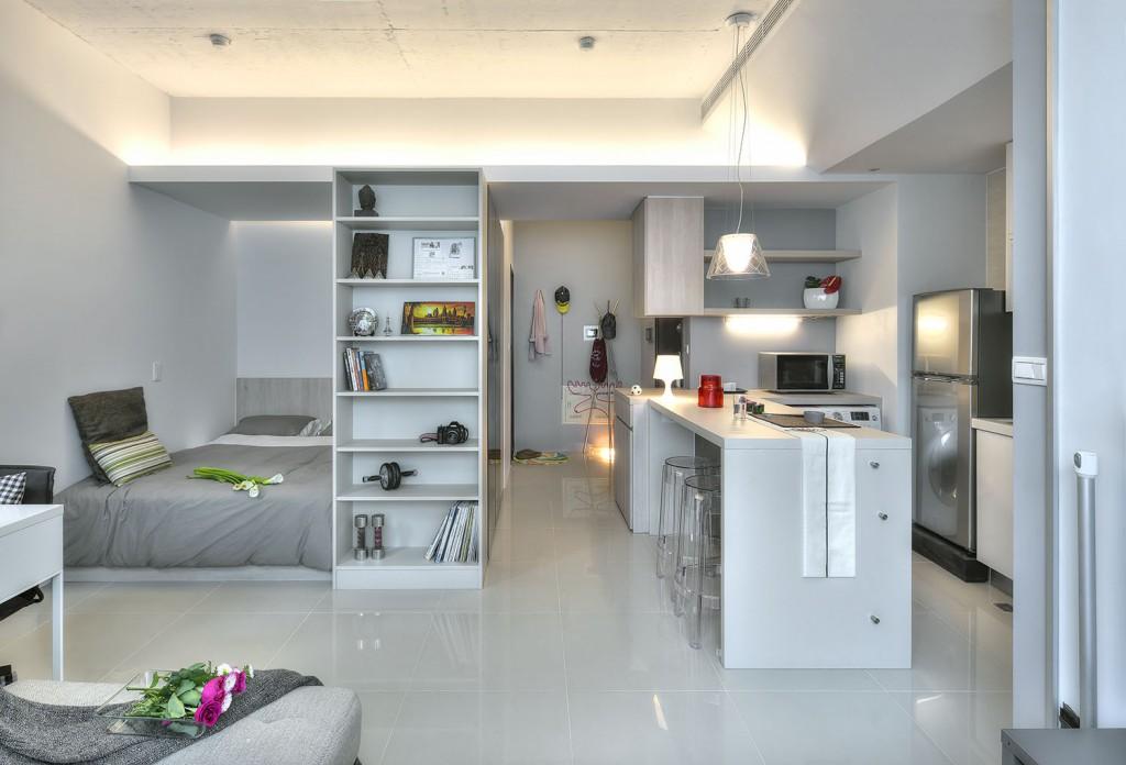Дизайн квартиры студии разделенной на зоны