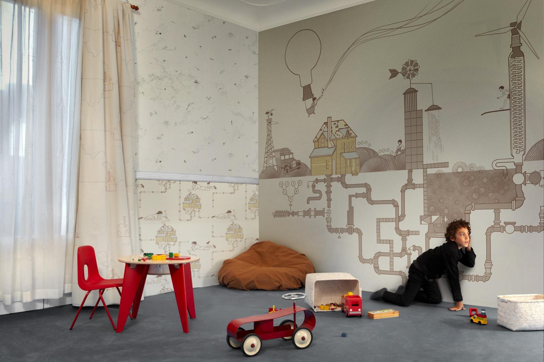 Фотографии дизайна стен с применением обоев