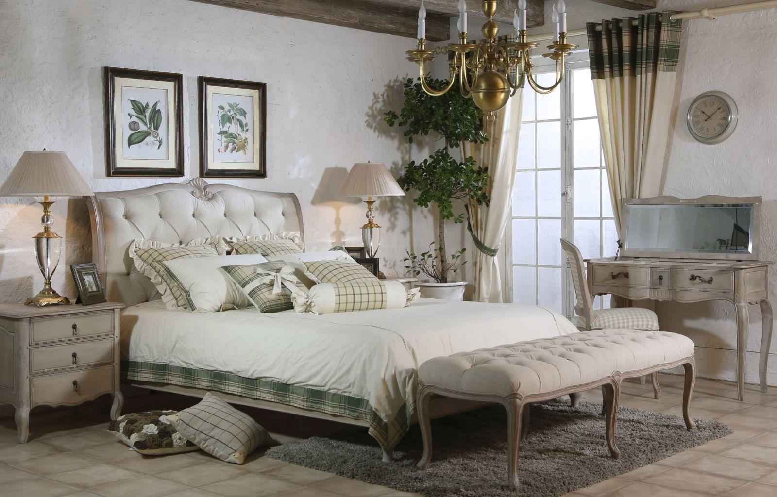 Интерьер спальни в стиле прованс фото