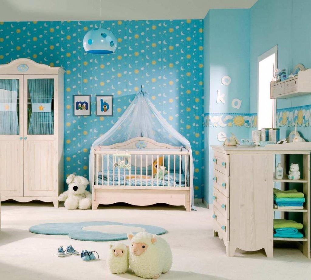 Дизайн обоев в детской комнате для девочек