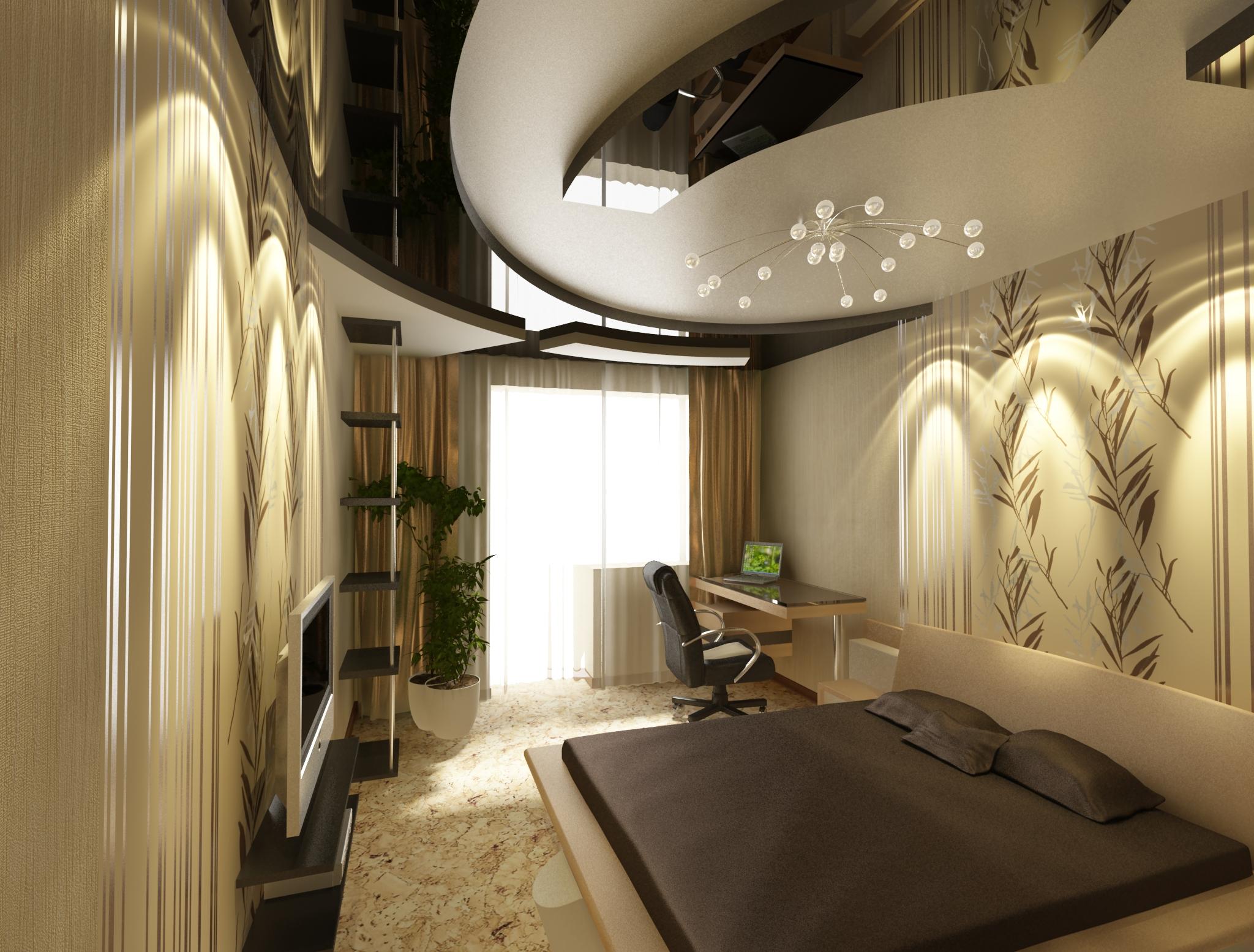 Дизайнерский ремонт спальни фото