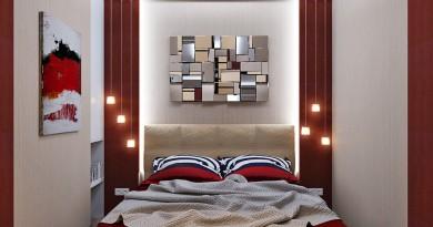 дизайн маленькой спальни 6 кв м