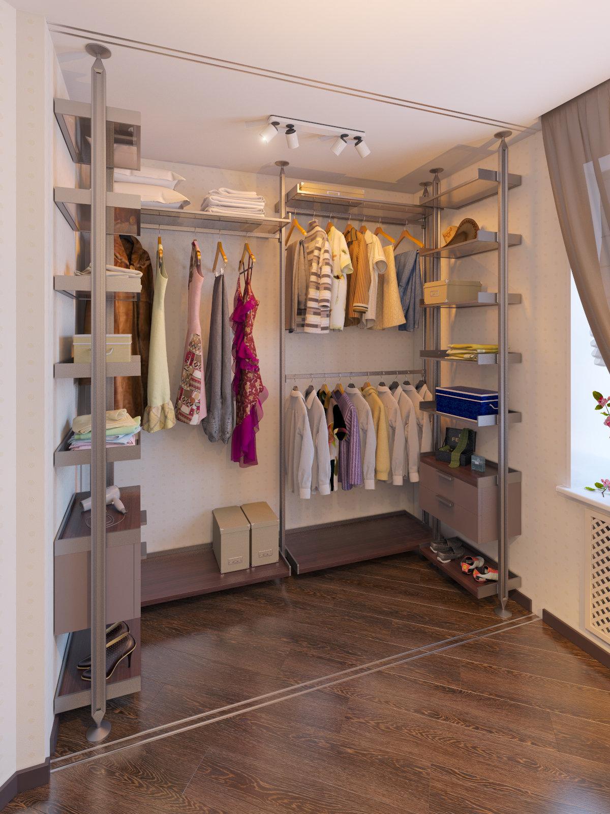 Дизайн гардеробной комнаты своими руками