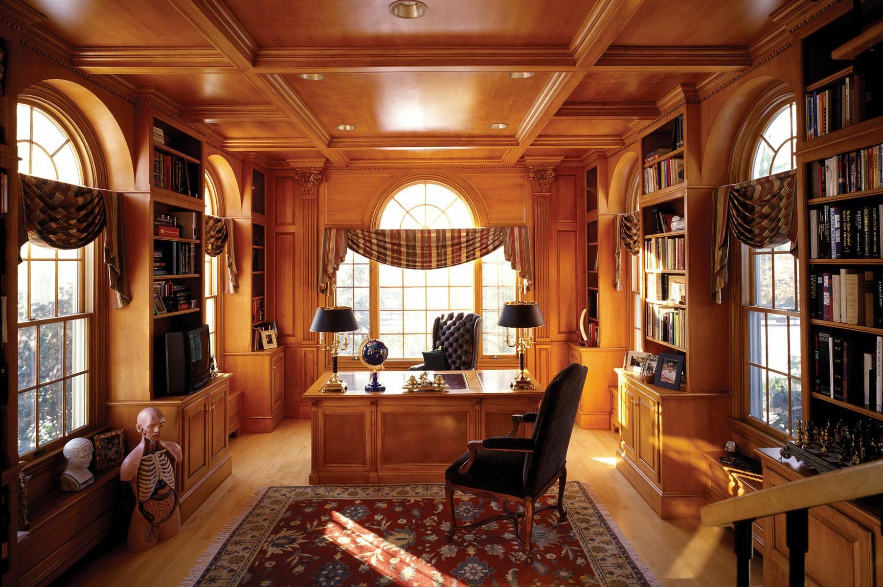Рабочий кабинет в доме дизайн
