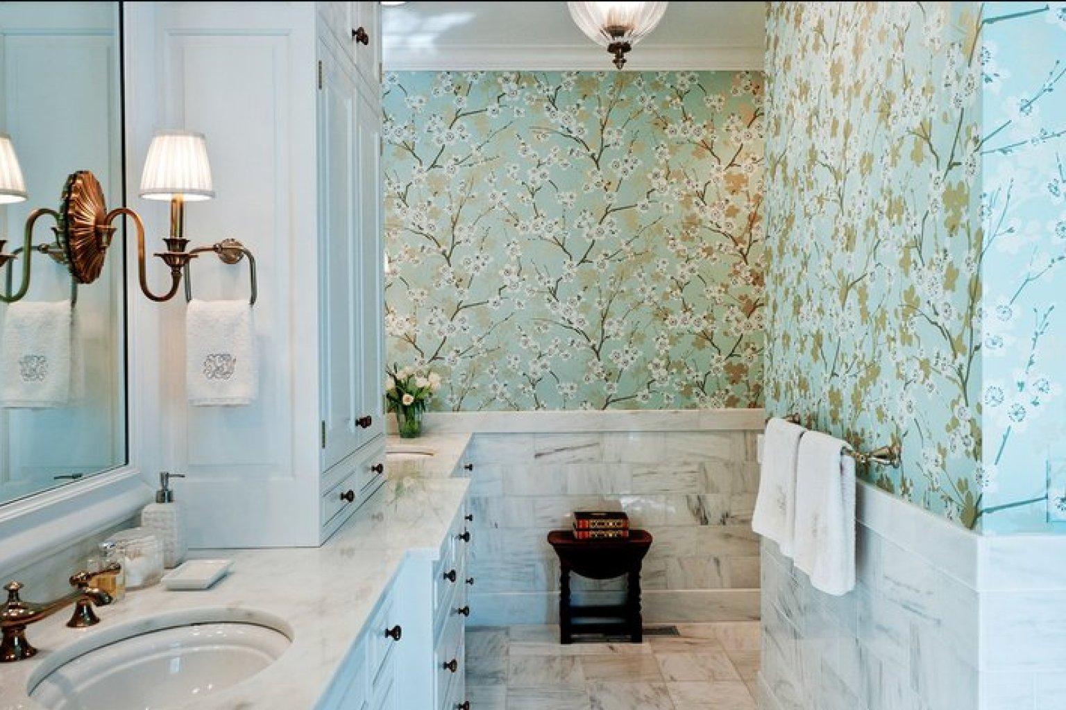 Дизайн обоев туалета фото