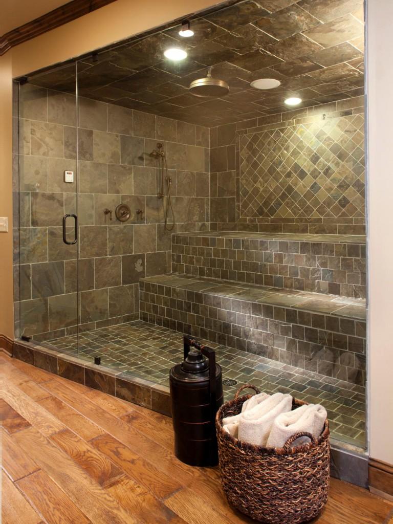 Баня дизайн внутри душ
