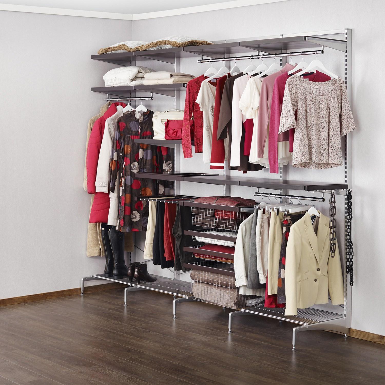 Использование системы elfa в гардеробной.