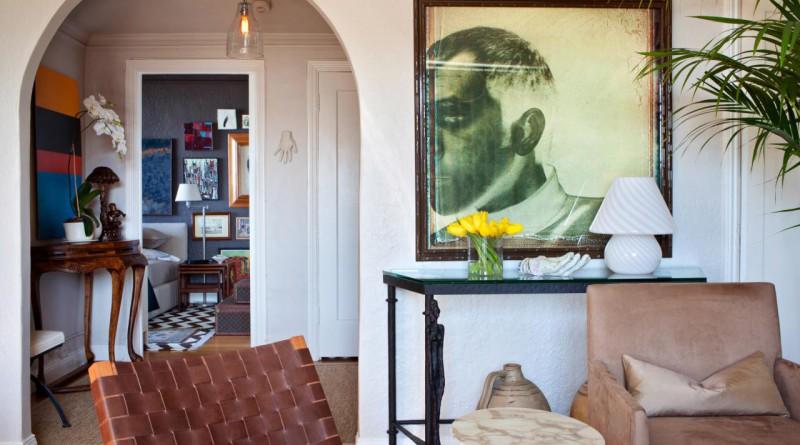 дизайн арки из гипсокартона в интерьере комнаты