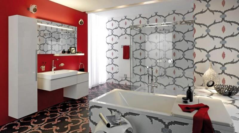 Дизайн ванной мозаикой