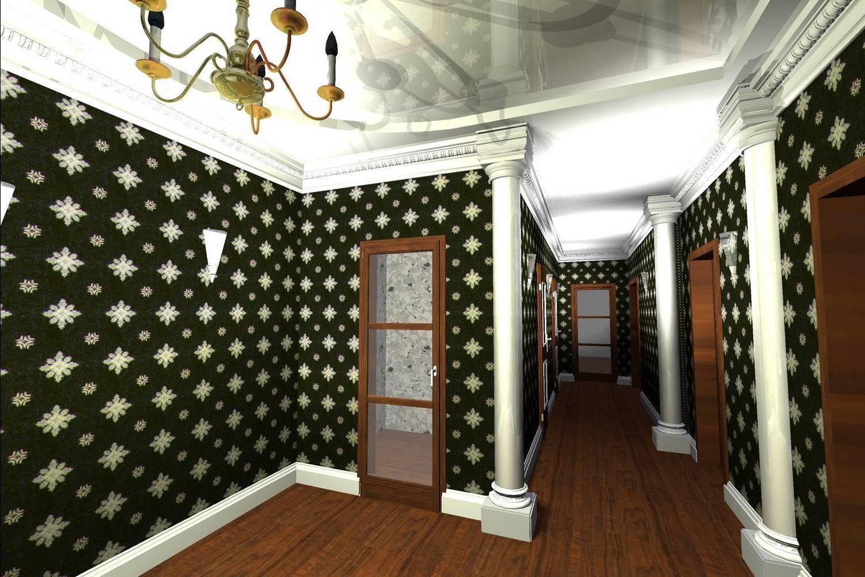 Дизайн обои в коридоре