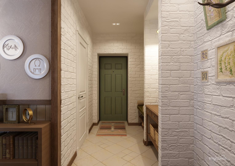 Кирпичная стена в коридоре своими руками