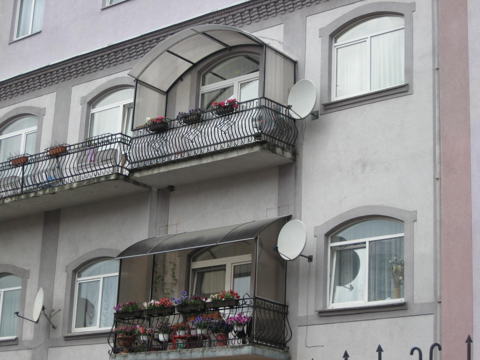 Навес для балкона своими руками фото
