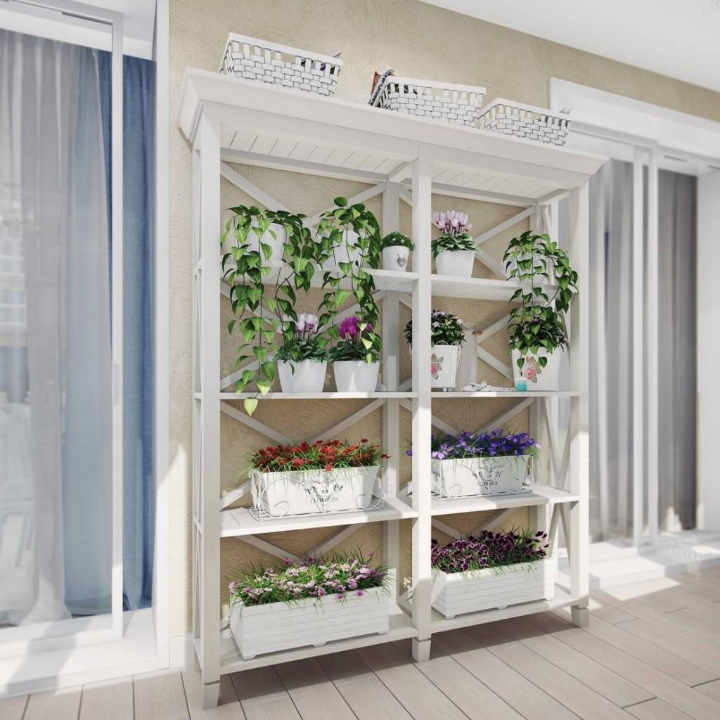 оформление внутри балкона
