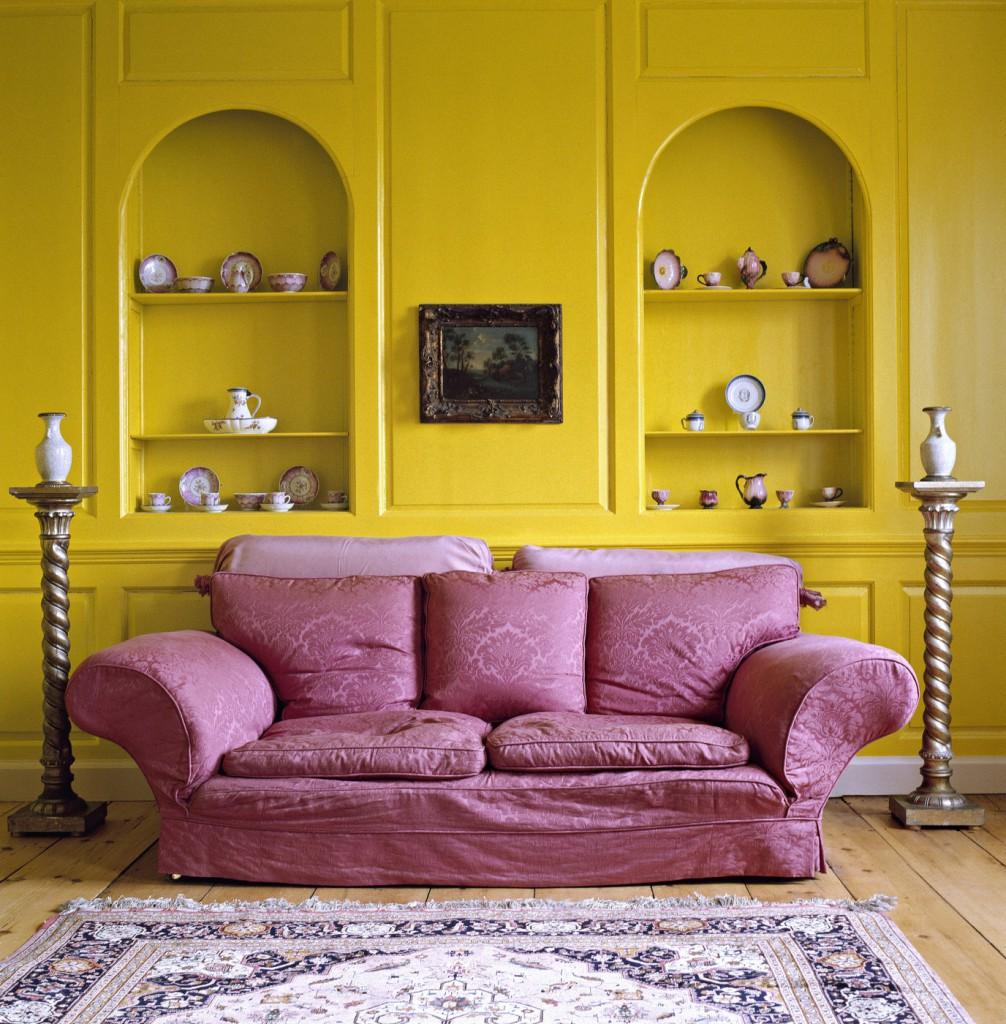 Complementary Color Scheme Room: Сочетание желтого цвета в интерьере квартиры (45 фото