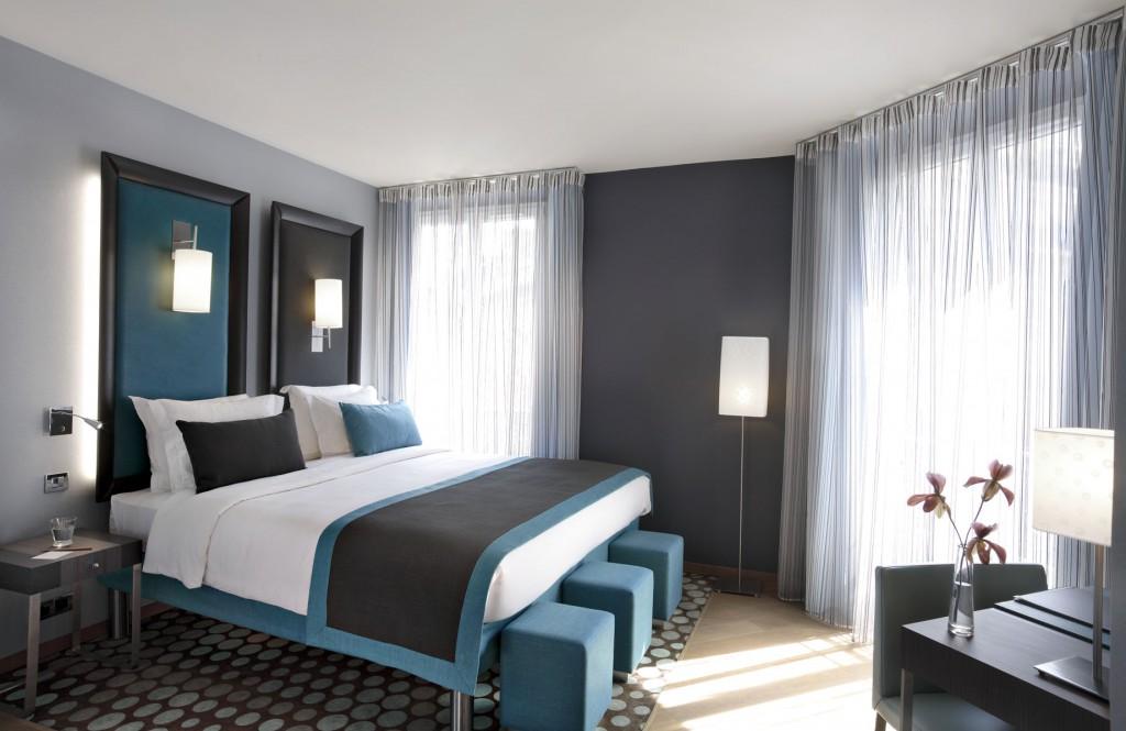 Schlafzimmer Blaugrau