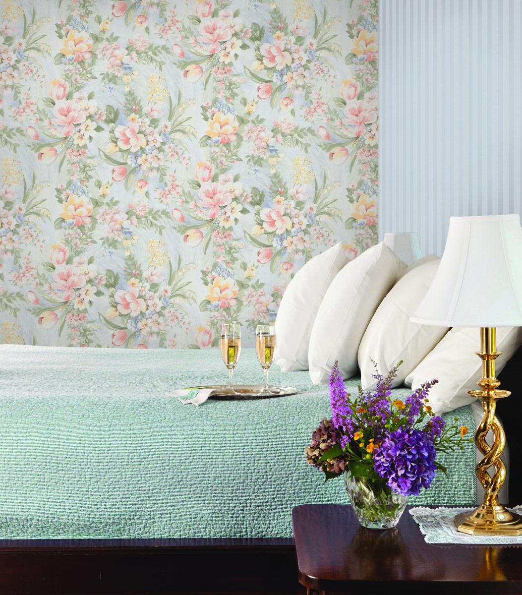 Фото обоев для спален зеленых оттенков