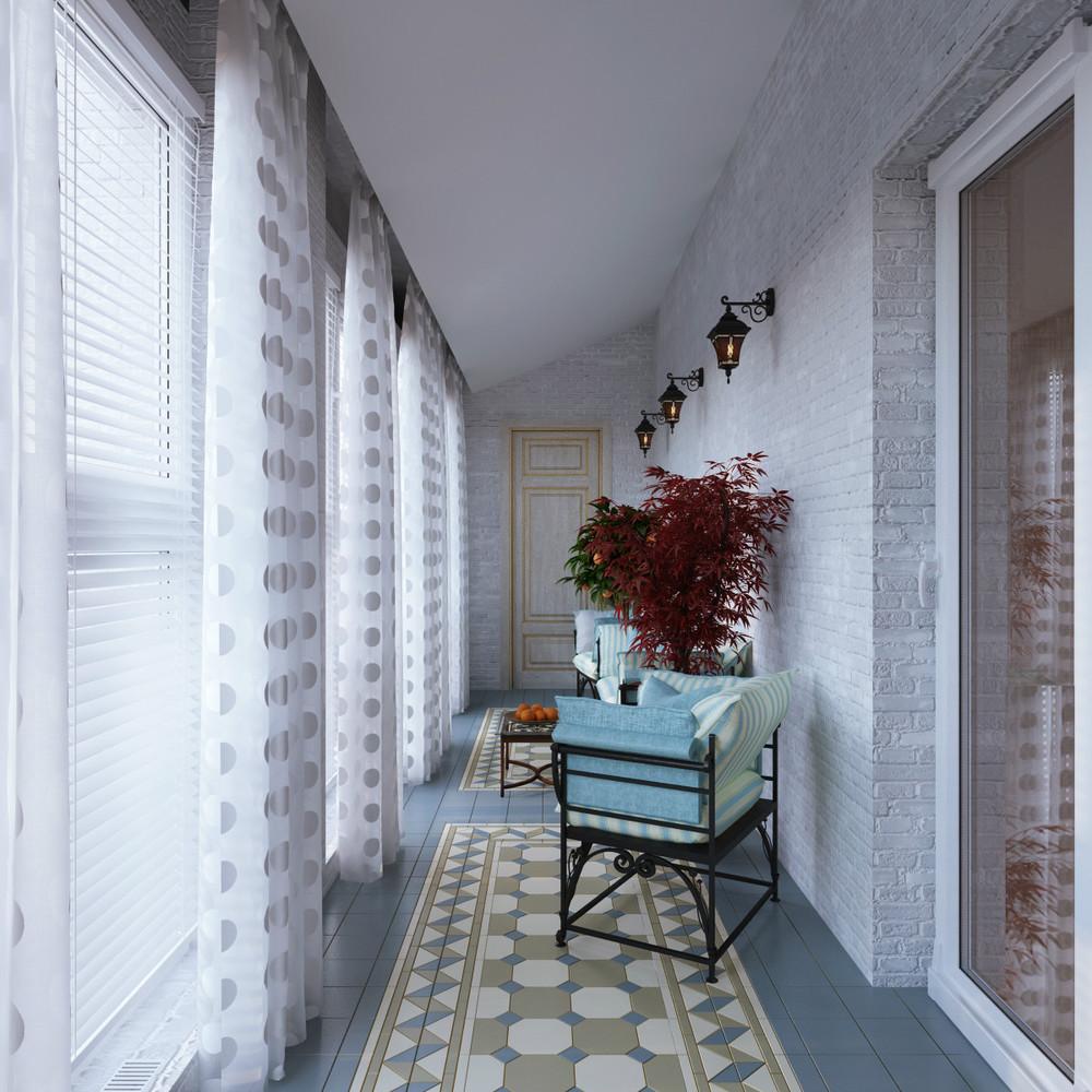 Оформление внутри балкона: 15 вариантов дизайна (35 фото).