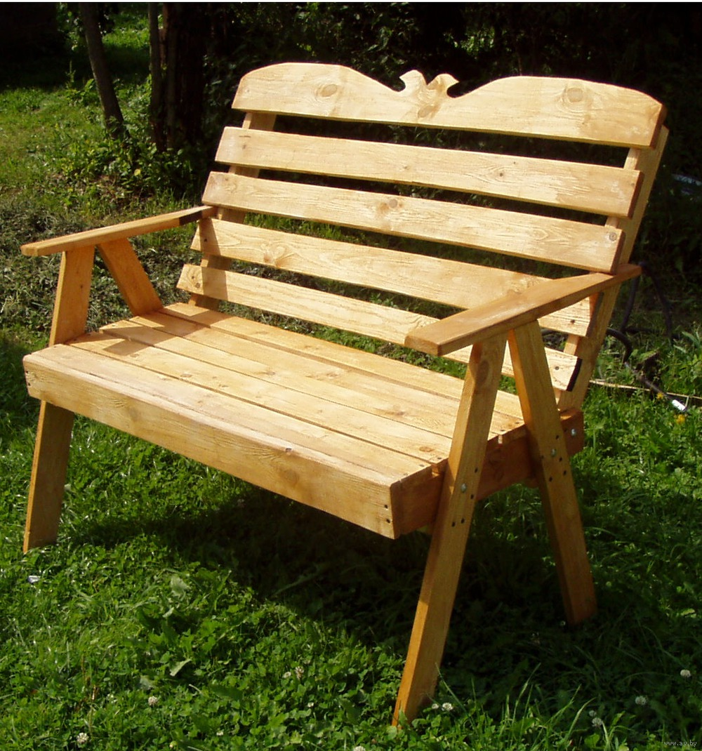 Фото скамейки со спинкой из дерева своими руками