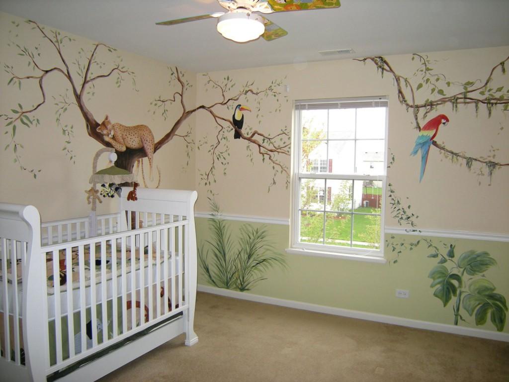 Чем разрисовать стены в детской своими руками