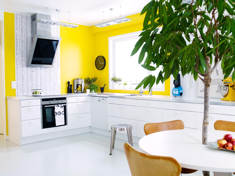 Как перекрасить желтый цвет стен