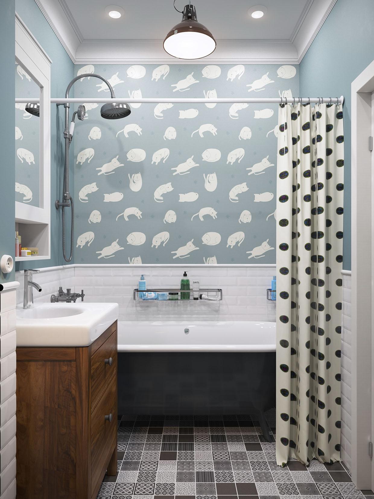 Покраска ванной комнаты своими руками фото 15