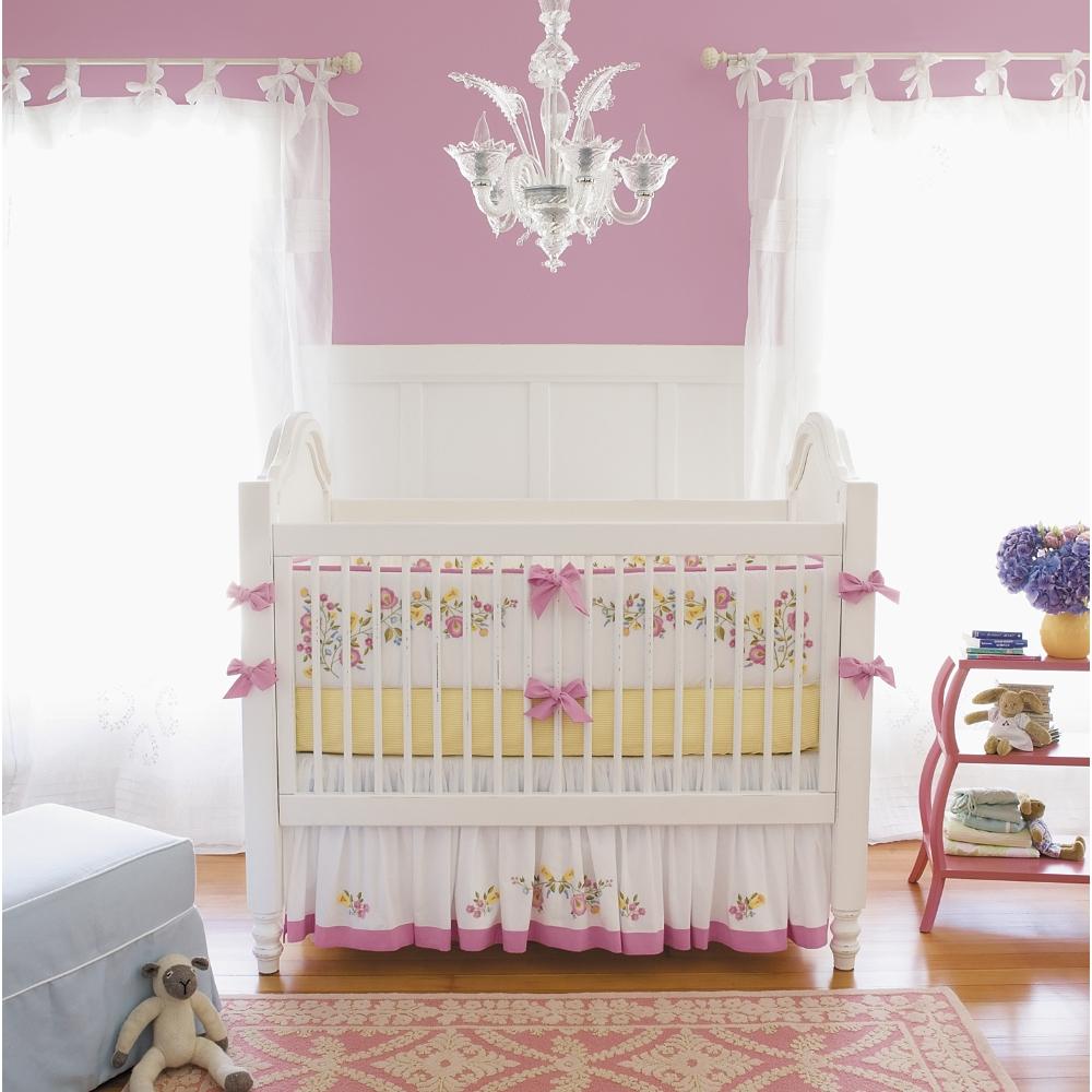 оформление детской кроватки фото для новорожденного