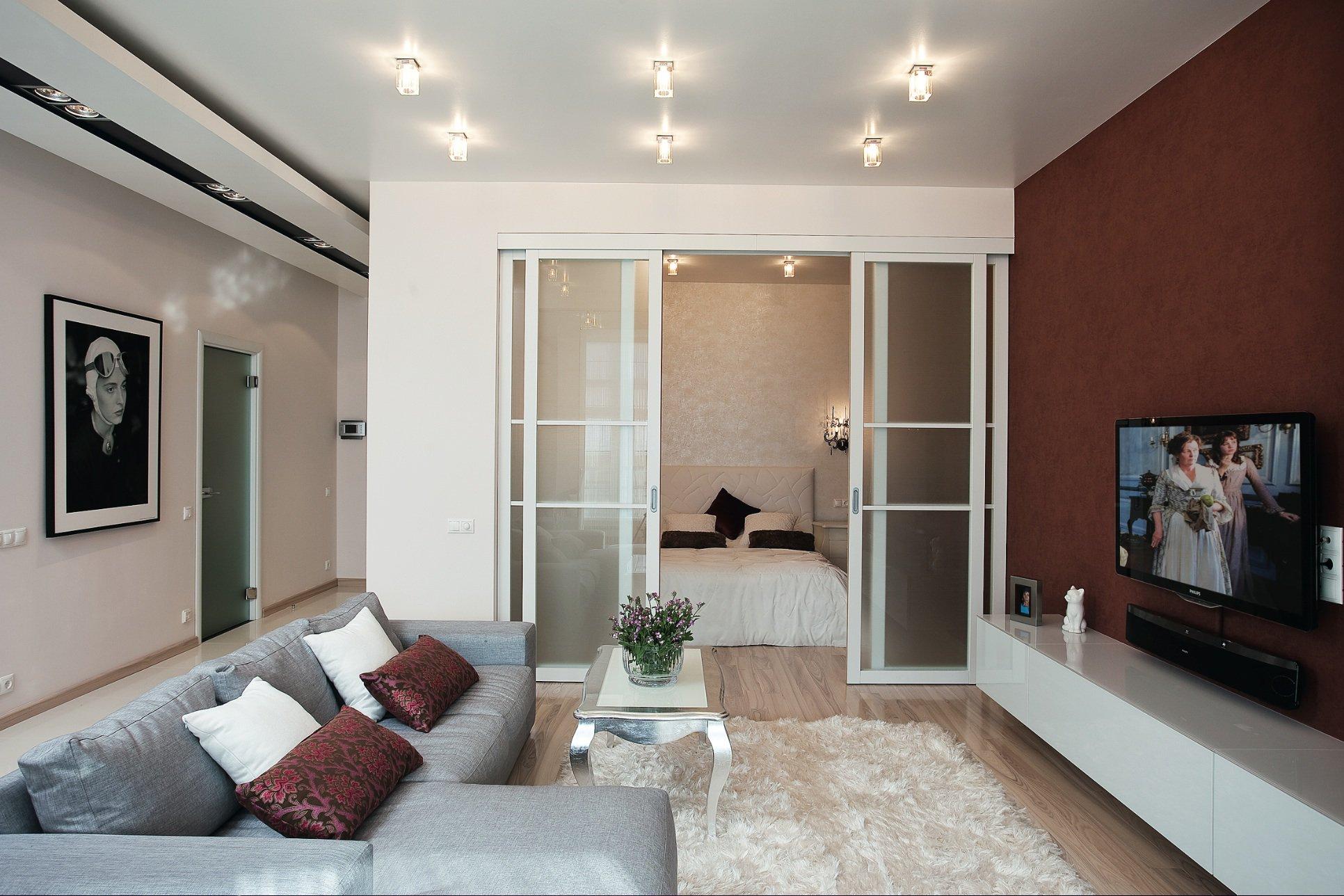 Дизайн квартир фото гостиная спальня