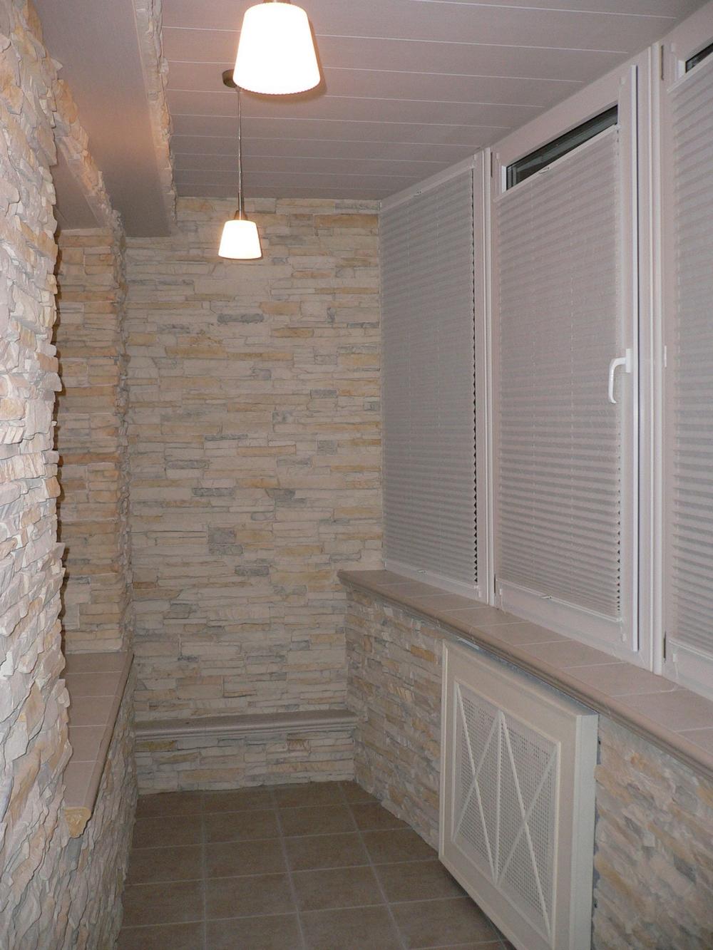Искусственный камень для внутренней отделки балкона цена..