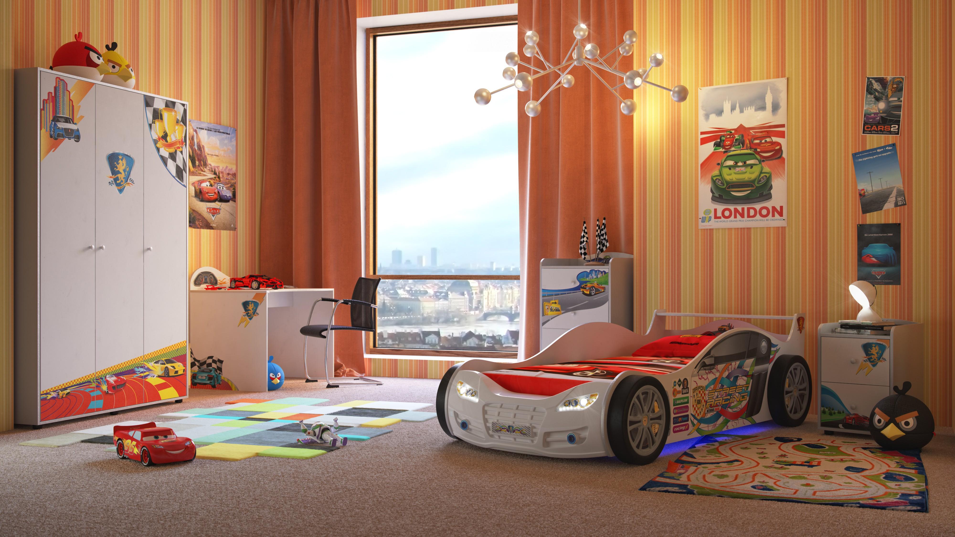 интерьер детской комнаты для мальчика от малыша до подростка фото