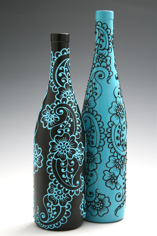 Бутылки своими руками акриловые краски