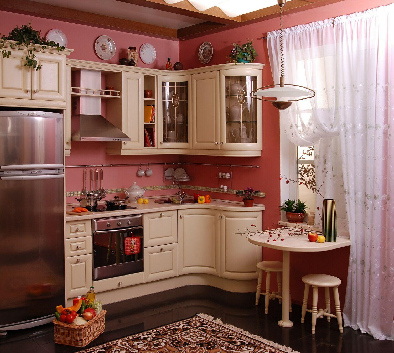 Интерьер совмещения кухни