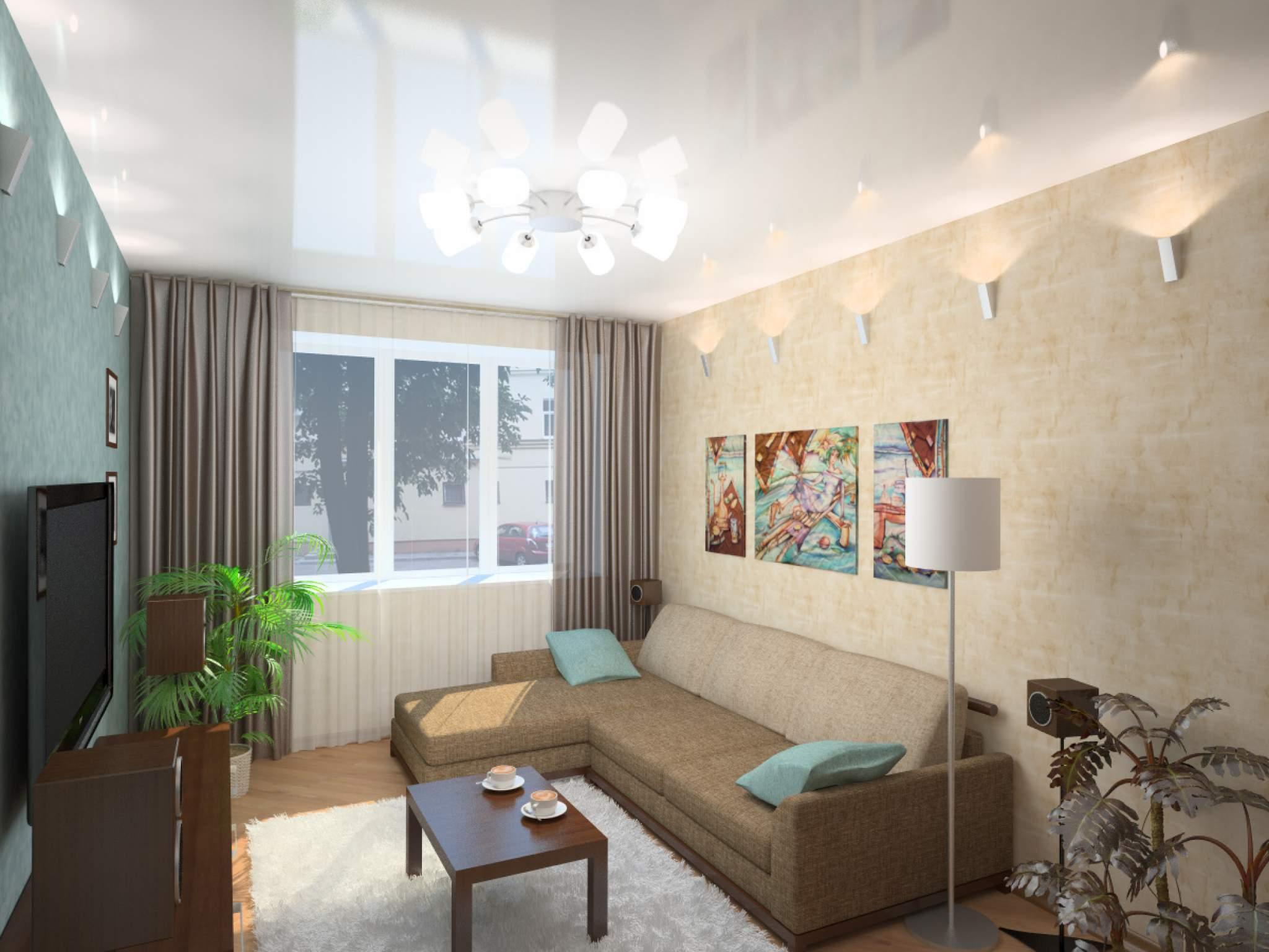 Вытянутая гостиная дизайн