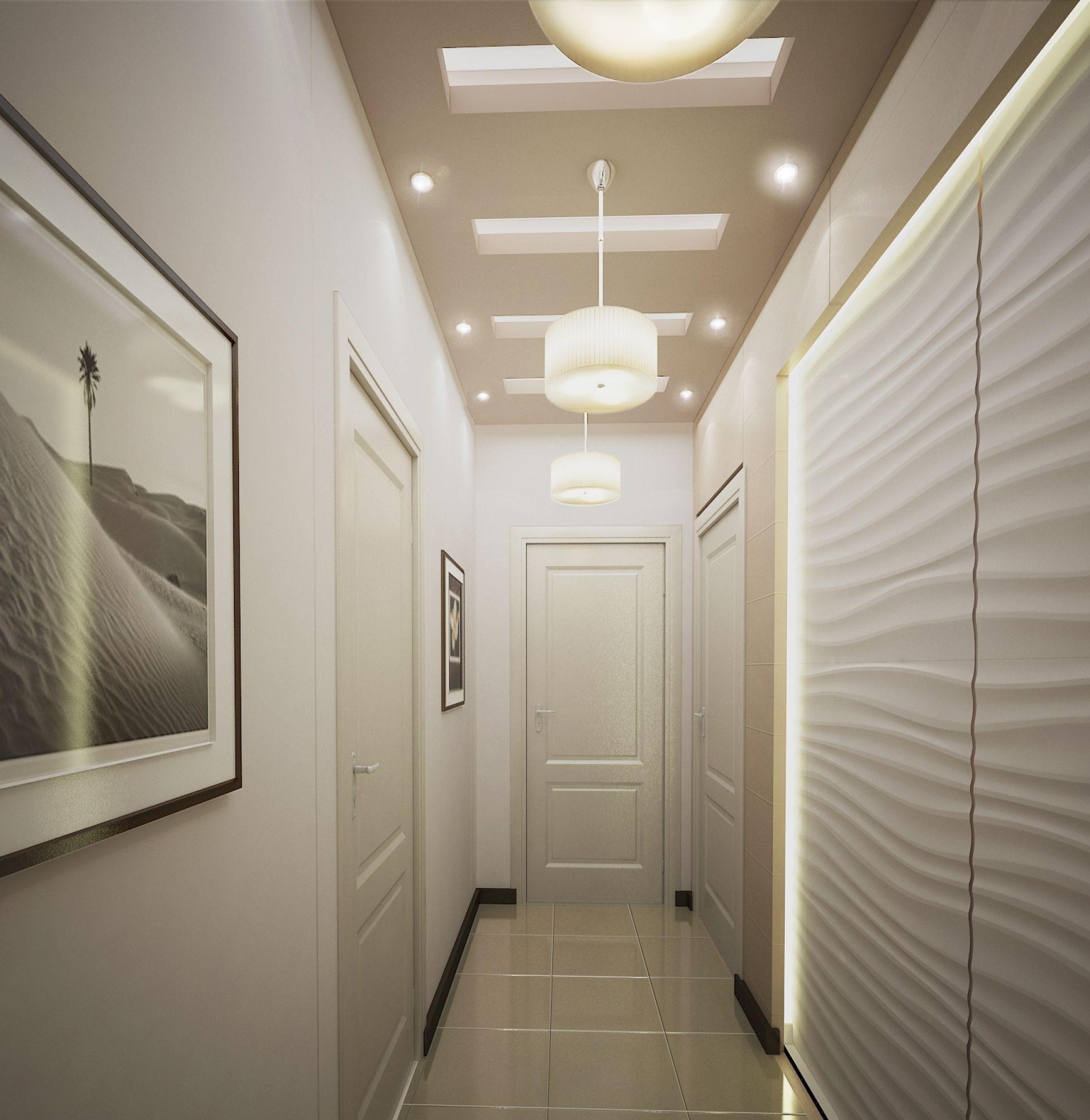 Дизайн трехкомнатная квартира с длинным коридором
